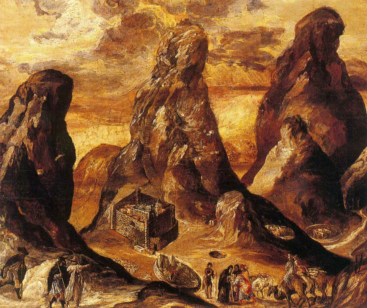 El Greco, View of the Mount Sinai and the Monastery of St Catherine, 1570. Historical Museum of Crete.