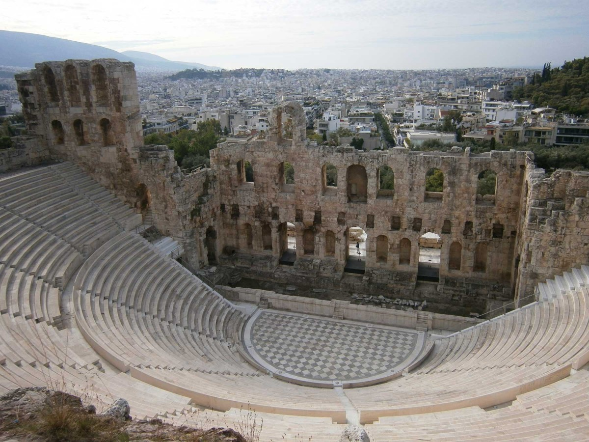 Odeon of Herodes Atticus. Built in 161 AD.