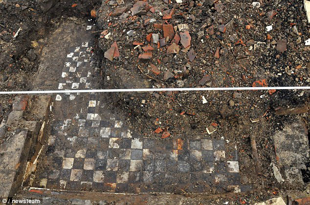 Tile floor dating from the 19th century. Photo copyright: Daily Mail.