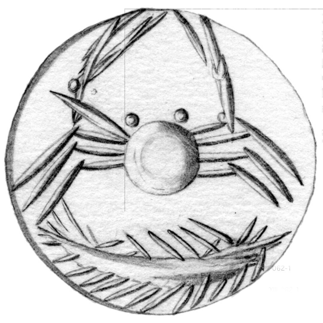 Fig. 2.  Talismanic seal with crab, ca. 1450 BC (CMS VIII 062).
