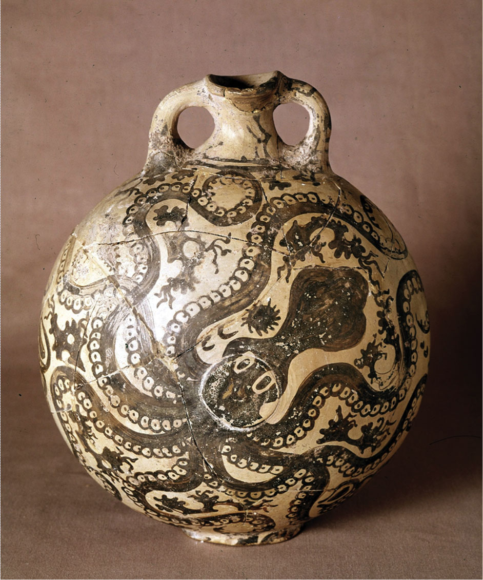 Fig. 8. Marine style jag, ca 1500 BC with octopus, rocks and seaweeds (Source:  Museum Syndicate).