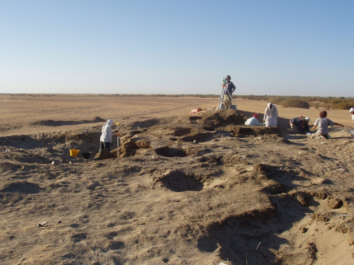 Plant particles found during the excavation of this Neolithic cemetery in Nubia (Sudan) turned out to be traces of domestic cereals when analyzed in a lab. Copyright: D. Usai/ S. Salvatori.