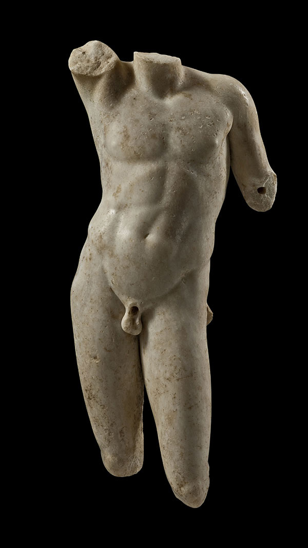 Statue of a nude youth (Apollo?). 1st century AD. Marble. H. pres. 0.525 m. Athens, Excavations for the Metropolitan. Railway, Syntagma Station. Find no. 3rd EPCA M 4509.