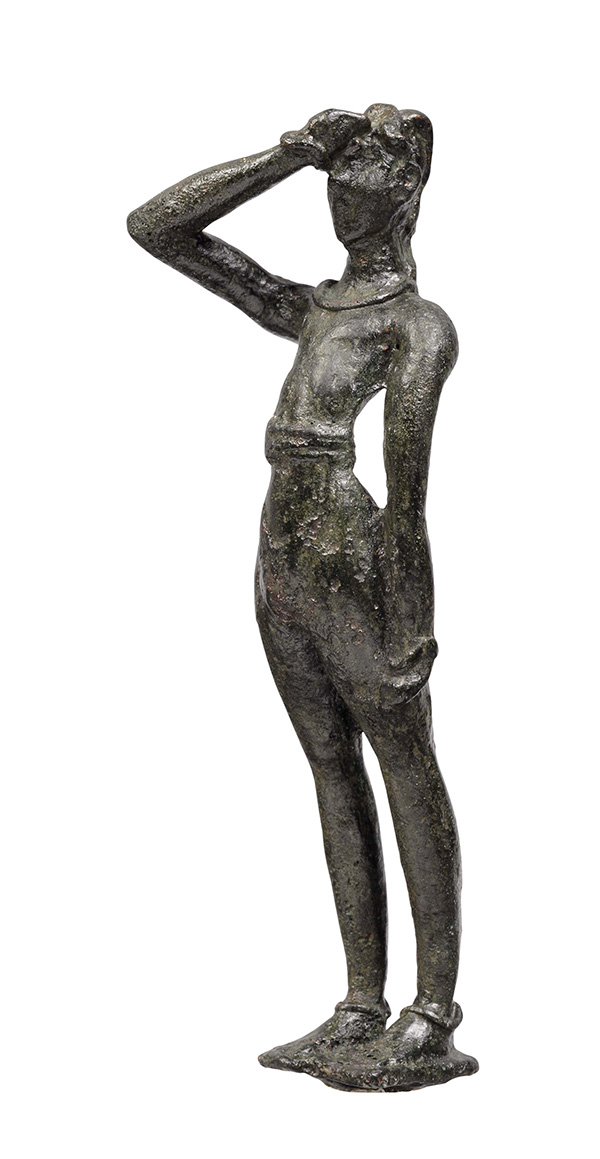Male figurine. Late Minoan I (1600–1450 BC). Bronze. H. 0.15 m, wt. 237gm. Tylissos Herakleion, Archaeological Museum, Χ1831.