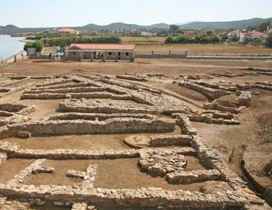 The prehistoric settlement of Thermi on Lesbos provides one of the earliest examples of urbanization in the Mediterranean.