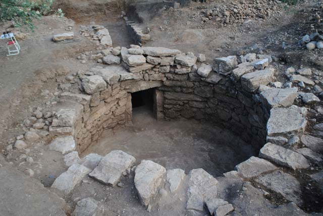 The Mycenaean period tholos tomb located near Amfissa.