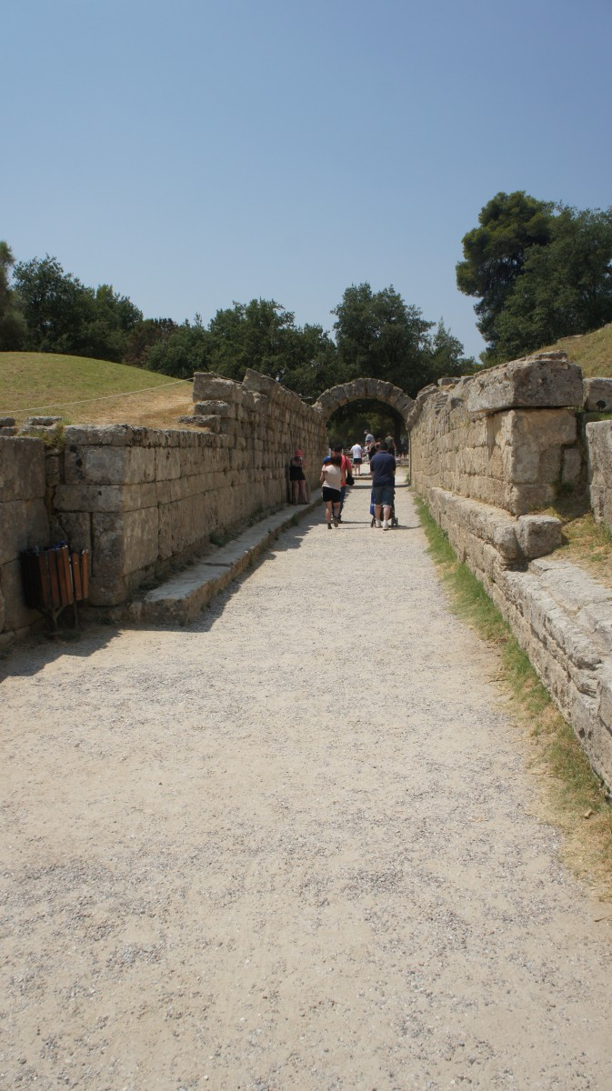 Entrance to the stadium of ancient Olympia
