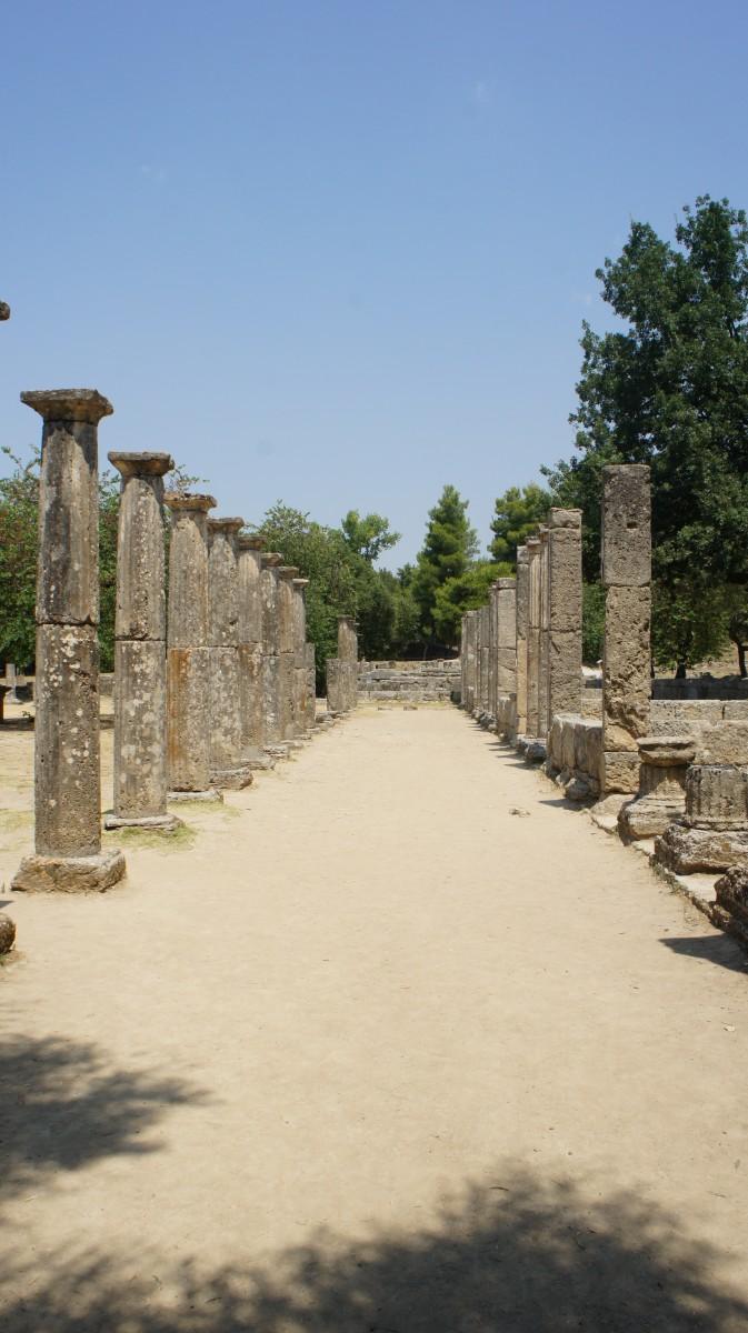 Παλαίστρα,Αρχαία Ολυμπία
