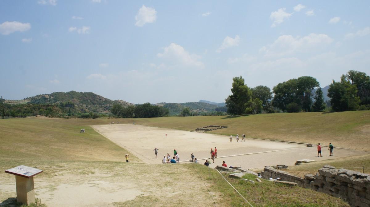 Στάδιο,Αρχαία Ολυμπία