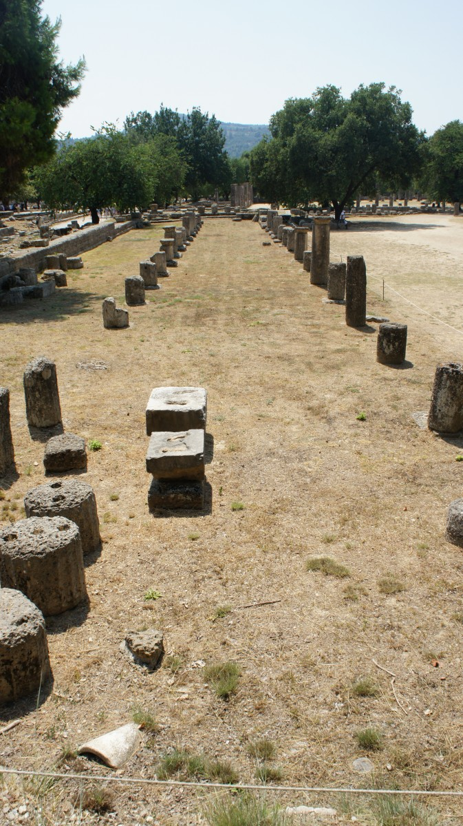 The ancient Gymnasium of Olympia