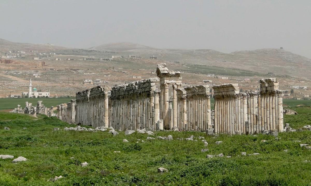View of Apamea ruins.