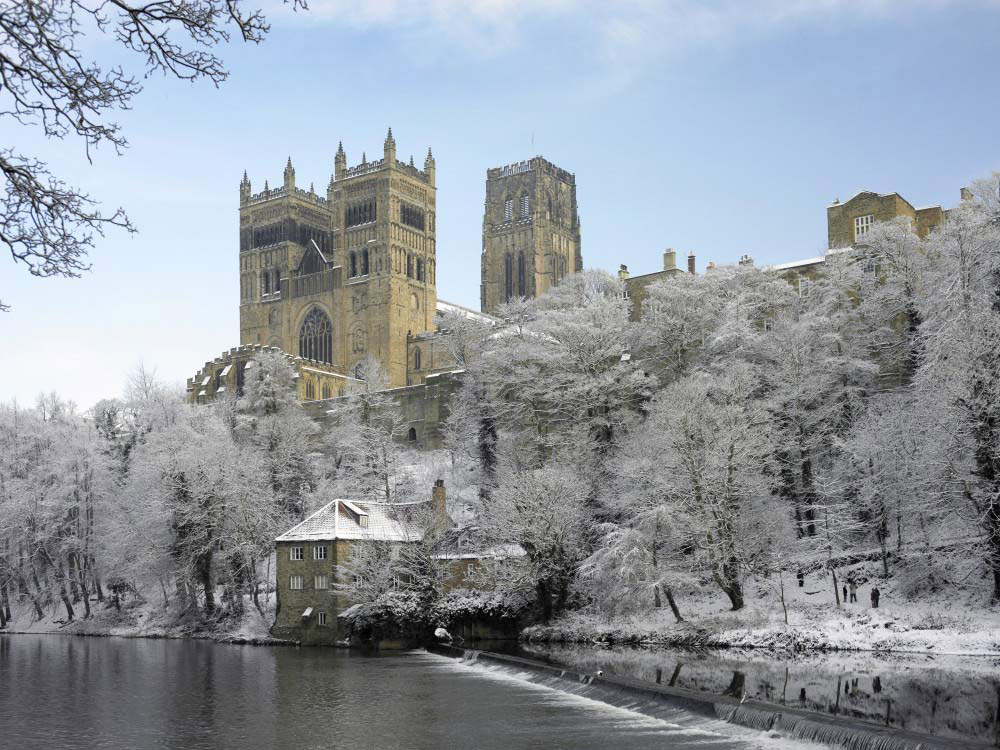 Durham University Museum of Archaeology on the river banks of the Wear.