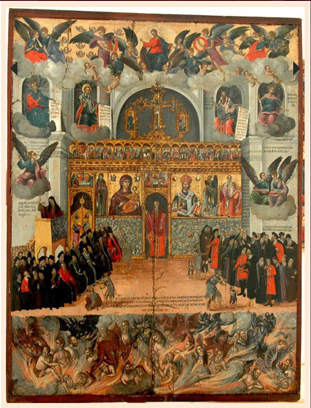 The icon by Georgios Klontzas, property of the Museum of the Old Orthodox Church in Sarajevo.