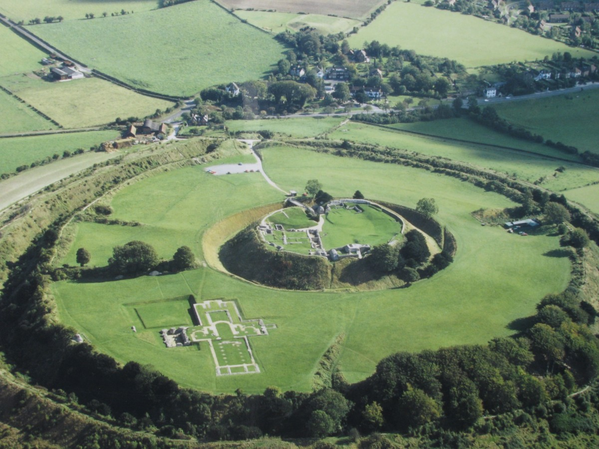 A view of Old Sarum castle and evident fortification. Photo credit: English Heritage.