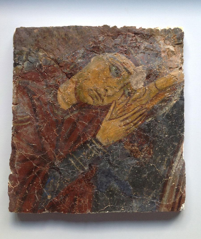 Panagia. 12th century restored fresco from the Monastery of Aspinthiotissa. Photo: Walk of Truth