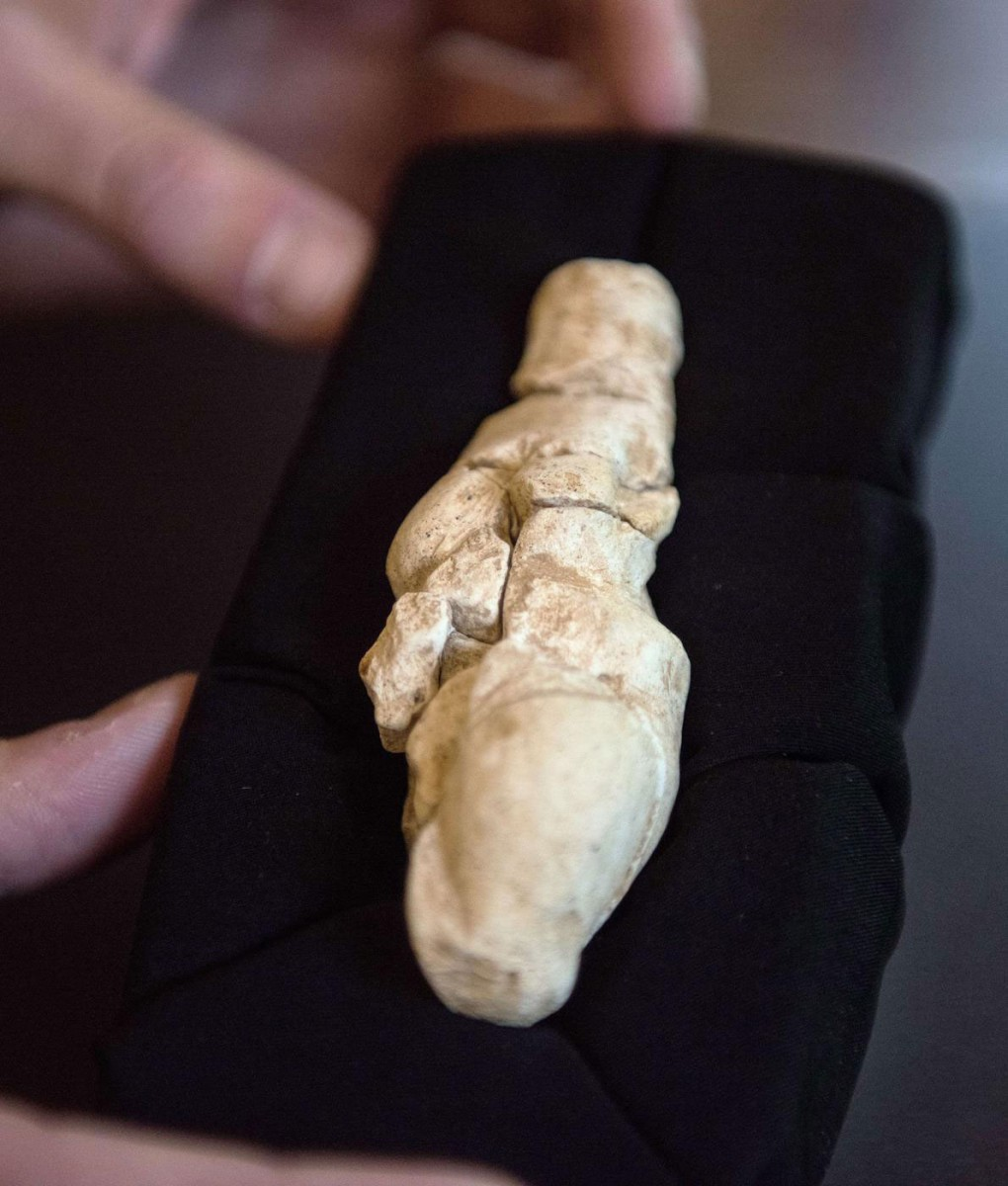 Aspect of the Venus of Renancourt. Photo credit:  AFP/Getty Images.