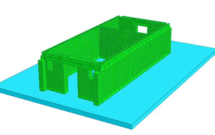 Fig. 1. Depiction of the model produced using specialised software.