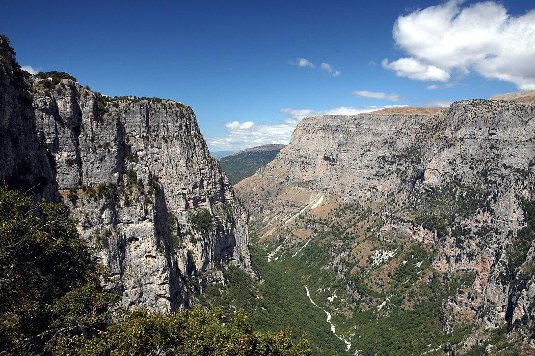 Vikos gorge from Oxia, near Monodendri village, region of Zagoria, prefecture of Ioannina.