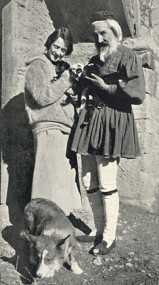 Susan Glaspell and George Cram Cook at Delphi, 1923. Photo source: website