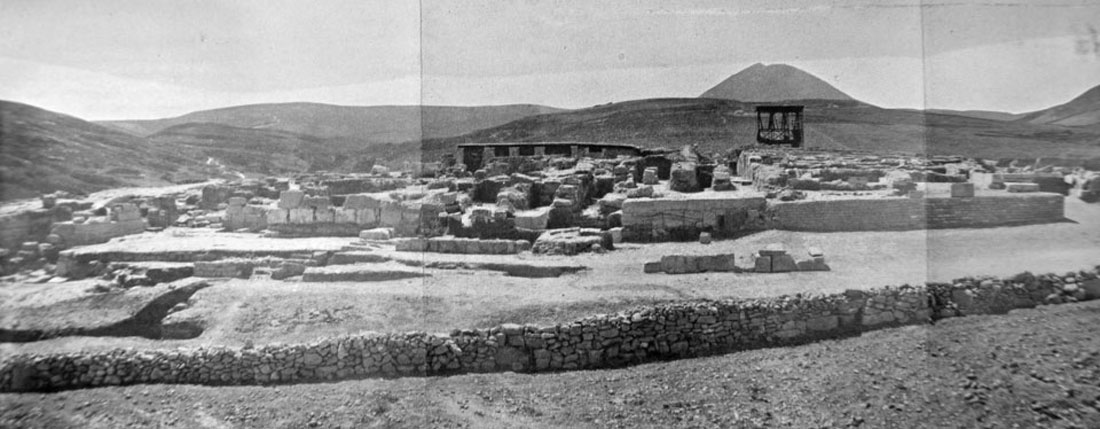 Knossos, view from the North, 1901.