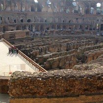 Red numbers on Colosseum