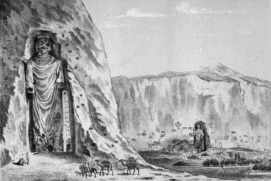 Buddhas of Bamiyan in an 1885 illustration image. Picture Credit: Wikimedia.