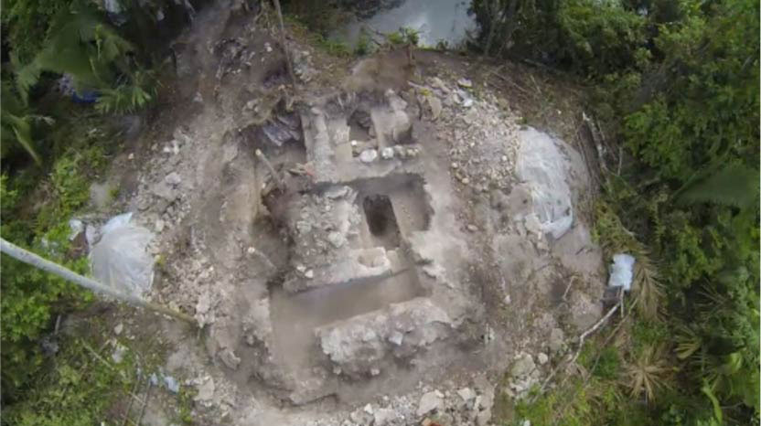 Maya footage of the Maya water temple.