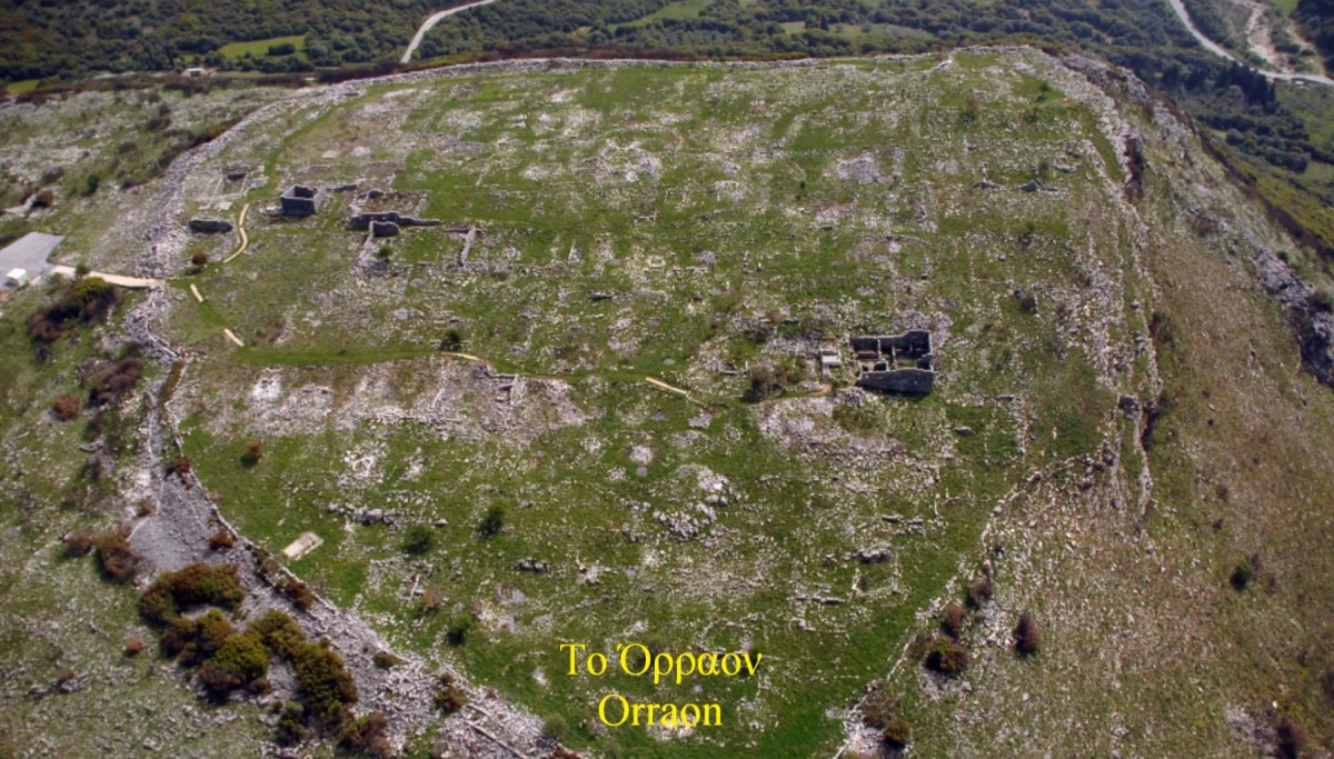 Orraon is an ancient settlement located on the hill of Castri, between the villages of Ammotopos in the Regional Unit of Arta and Gymnotopos in the Regional Unit of Preveza.
