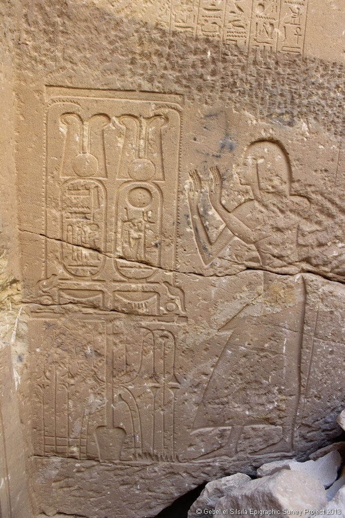 Engraving found at Gebel El Silsila in 2013. Credit: Gebel El Silsila Survey Project