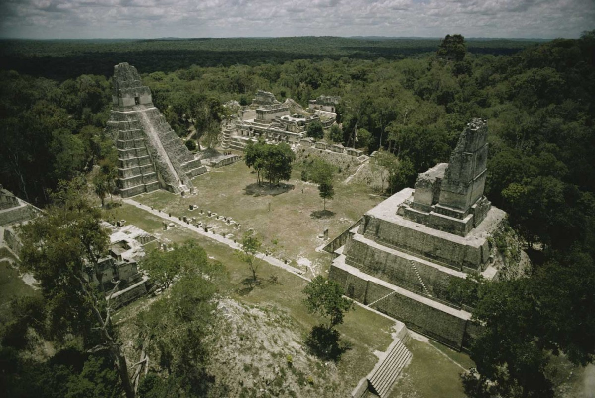 The Mayan city of Tikal was abandoned in the ninth century. 'Tikal serves as an excellent model of us today because we're following the same trajectory,' says David Lentz. Photograph: Getty Images.