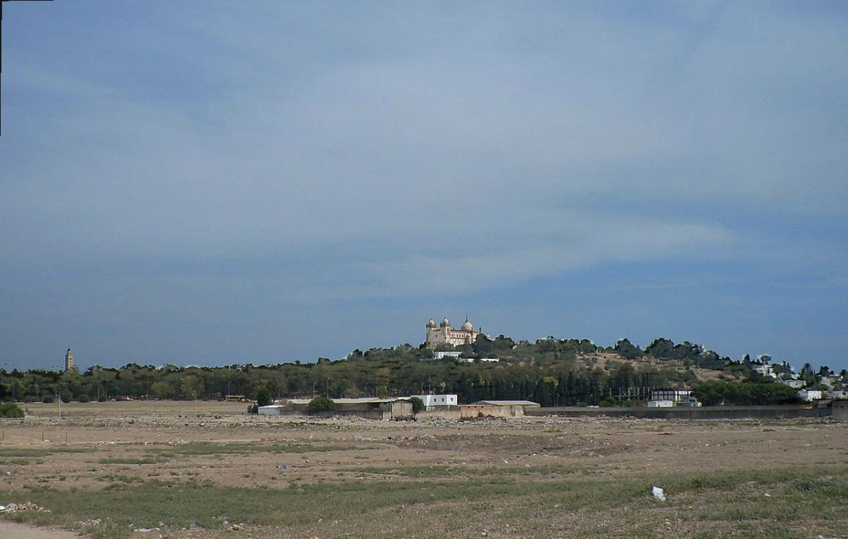 Location of the Circus of Carthage, with the Byrsa hill in the background.