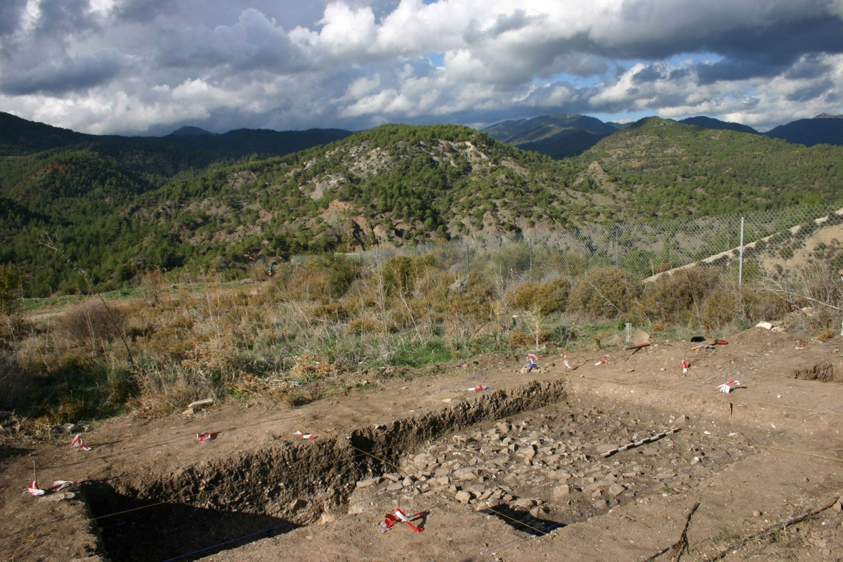 General view of the excavation at Vretsia/Ayios Ioannis - Roudias.