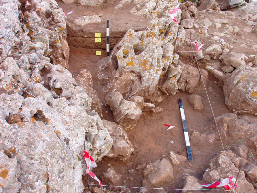 Fig. 3. One of the most significant achievements of the dig is that it threw light on the stratigraphy of the site.