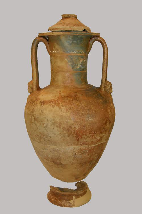 Cinerary amphora with relief decoration under the handles, Archaeological Museum of Arta.