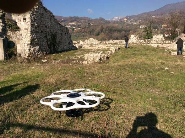The drone at work. Photo Credit: ANSA, Stress.
