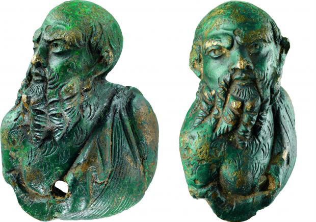The 4.5 cm tall Roman bronze figure represents Silenus.  (Photos: National Museum of Denmark)