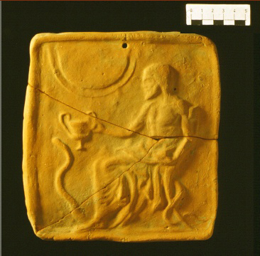 Terracotta plaque from Amyklai (Sparta Museum 6230/1).