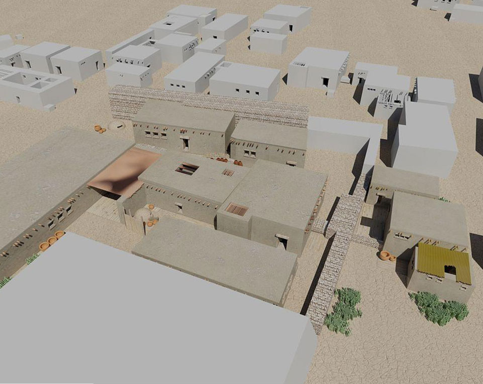 Virtual 3D model of more than 5 thousand years old Egyptian homes, discovered during the excavations at Tell el-Farcha in the Nile Delta, prepared by Jacek Karmowski. Source: J. Karmowski