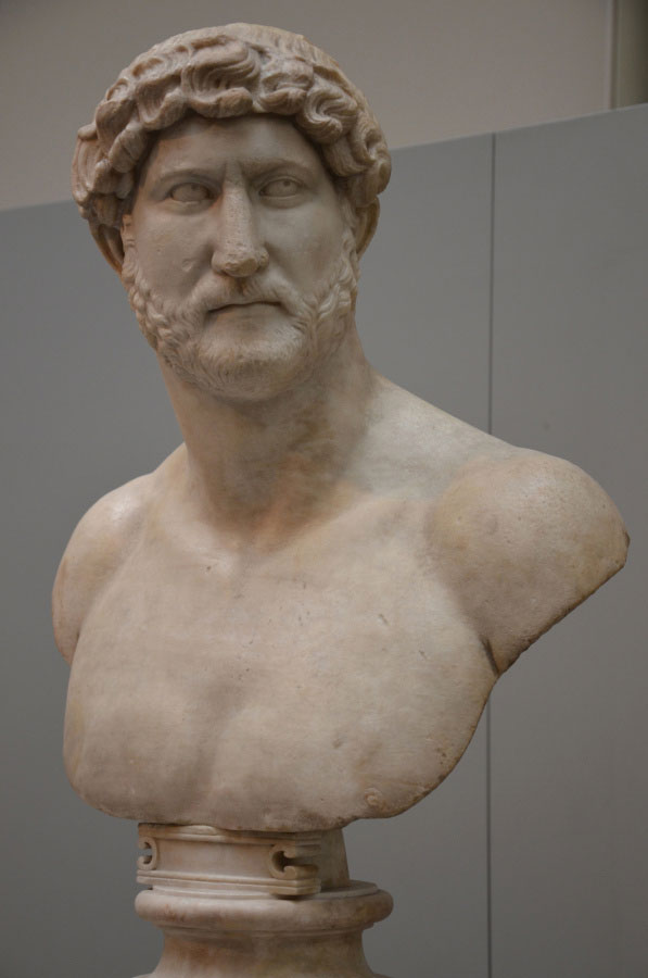 Hadrian bust at the British Museum.