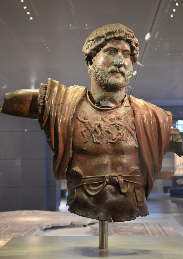 Hadrian bust in bronze from the Israeli Museum.