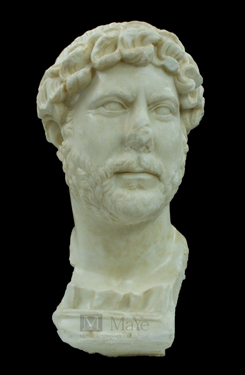 The bust of Hadrian found in Yecla, Spain. Photo Credit: MaYe.