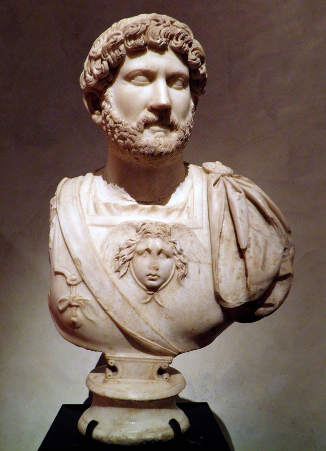 Marble bust of Hadrian in Seville.