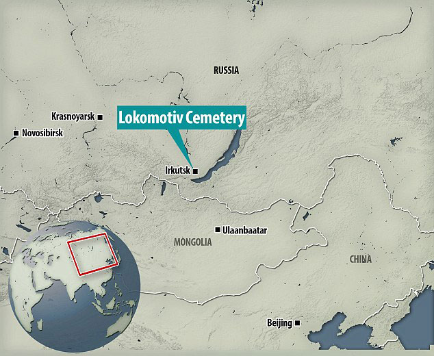 Location of the Lokomotiv hunters-gatherers cemetery. Photo Credit: Daily Mail.