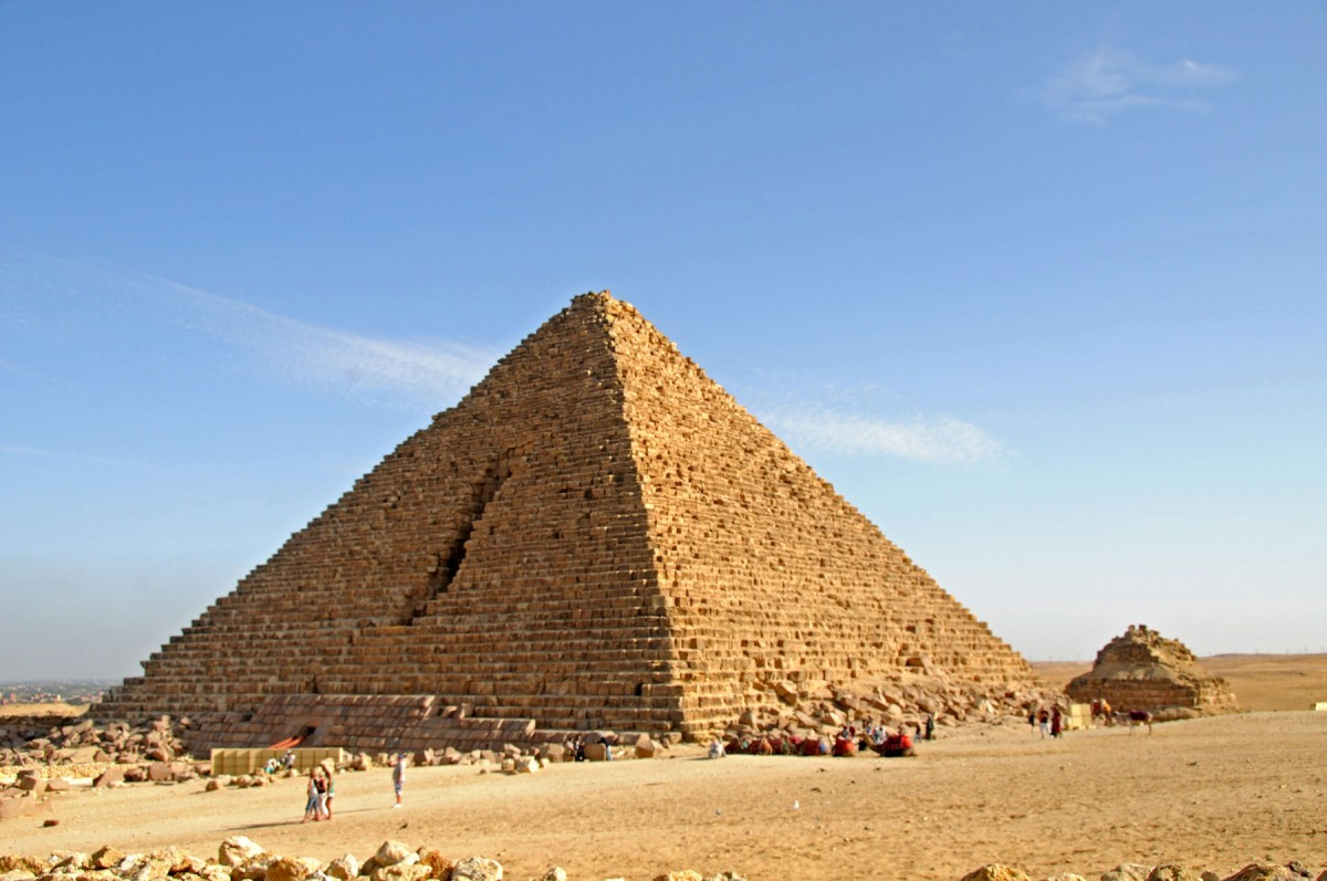 The Menkaure Pyramid.
