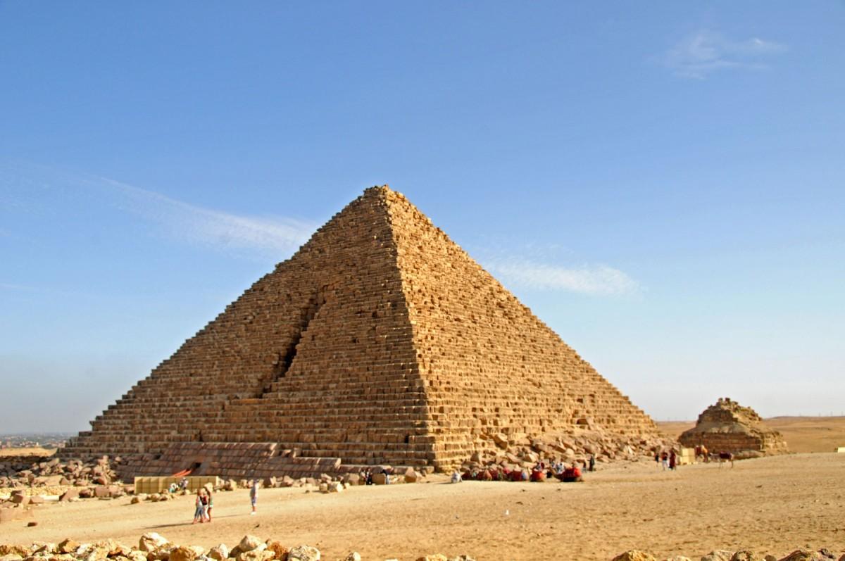 The Menkaure Pyramid.