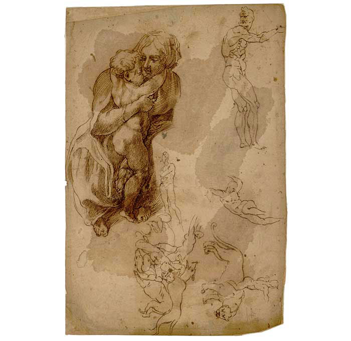 The sheet of drawing in the Musée Fabre, Montpellier.