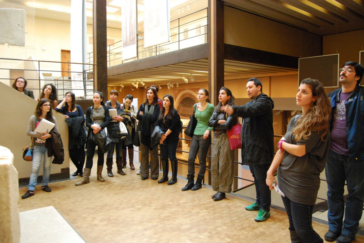 Fig. 1. Educational visit to the Byzantine and Christian Museum by post graduate students in Museum Studies at the National and Kapodistrian University of Athens (Photography Archive of M. Mouliou).