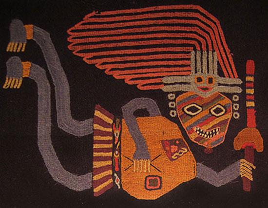 Paracas textile embroidery, 300-200BC. Photo Credit: Arizona State University.