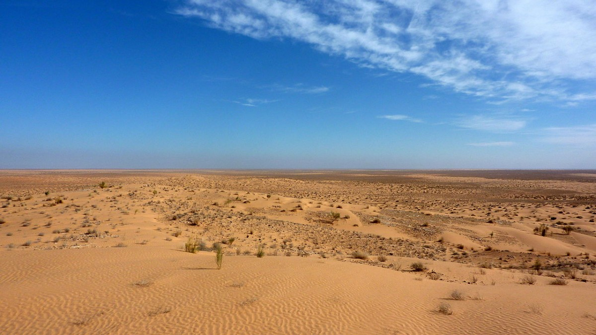 View of the Sahara Desert as it is today.