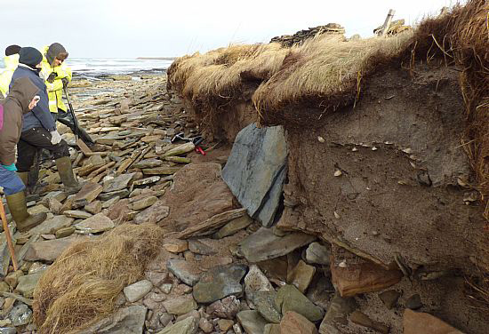 Experts of Historic Scotland were called to the scene. [Photo: Sanday Ranger]